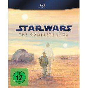 Star Wars: The Complete Saga I-VI Blu Ray für 79,99 € bei Amazon.de