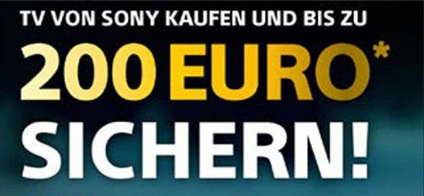 """[Media Markt/Saturn bundesweit] SONY TV Weihnachtsaktion """"Gutscheine bis zu 200€"""""""