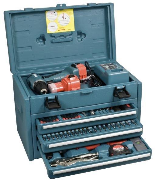 Makita 6271DWAETC - 12V Akkuschrauber inkl. großem Zubehörset im Schubladenkoffer