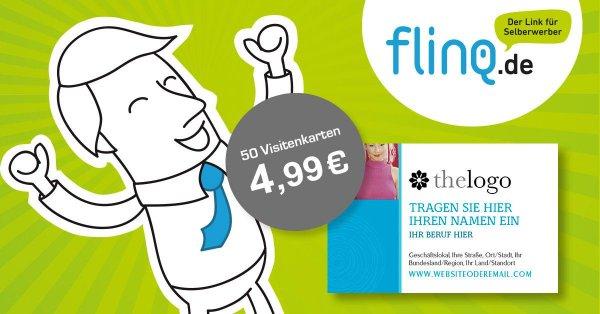 50 Visitenkarten für 4,99 Euro - versandkostenfrei