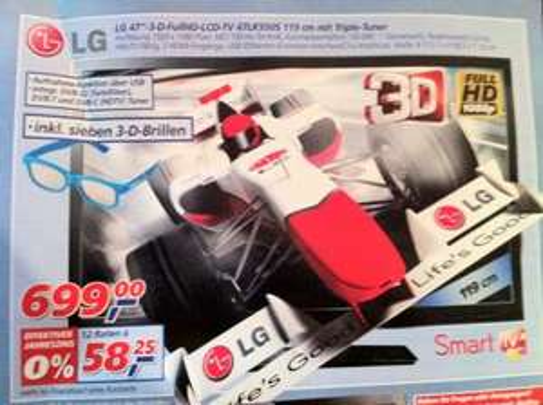 "LG 47"" 3D Full HD LCD TV (Offline@Real)"