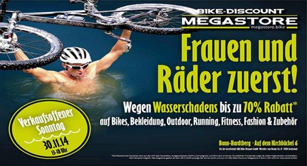 [offline] Bike Discount bis zu 70% Rabatt wegen Wasserschaden