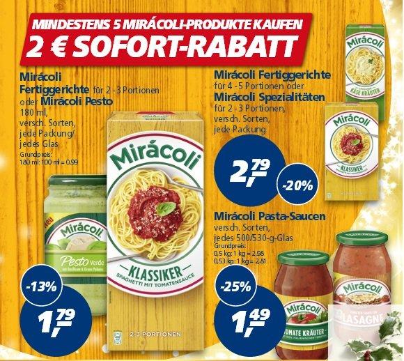 [Real]  5 Gläser Miracoli Pasta Saucen für 0,45€