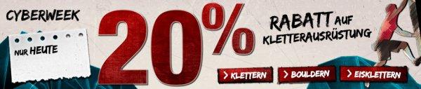 20 % Rabatt auf Kletterausrüstung bei bergfreunde.de