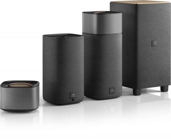 Philips Fidelio E5 kabelloses Heimkino (Subwoofer, Bluetooth aptX, NFC), anthrazit/grau inkl. Vsk für 498,36 € > [amazon.it]