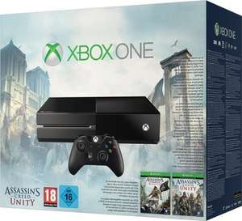 Xbox One Konsole + Assassins Creed: Black Flag & Unity für 365,19 € @MeinPaket