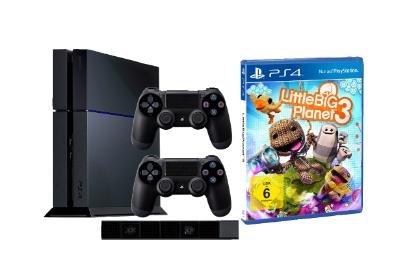 [Saturn] SONY PlayStation 4 Konsole + 2. Controller + PS4-Kamera + LittleBigPlanet 3