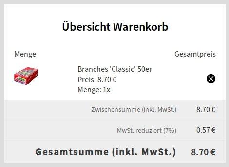 Branches 'Classic' 50er-Megapackung für 8,70€ oder 3x 50 für 16,10€