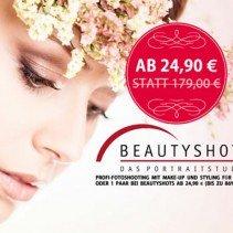 Beautyshots Fotoshooting-Gutschein für 24,90 Euro statt 179,- Euro bei Facebook gefunden!