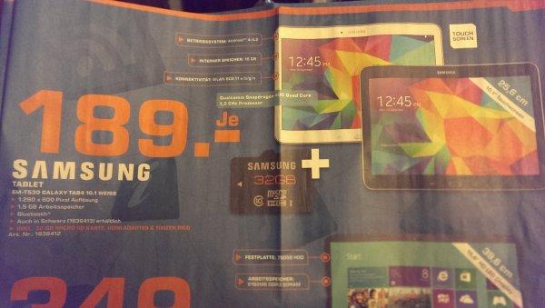 [Lokal OF] Saturn - Samsung Tablet SM-T530 Galaxy Tab4 10.1 Schwarz/Weiss