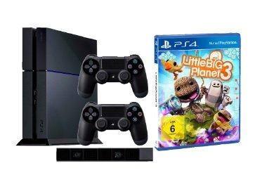 Sony PlayStation 4 500GB Konsole + 2. Controller + PS4-Kamera + LittleBigPlanet 3 für 449€