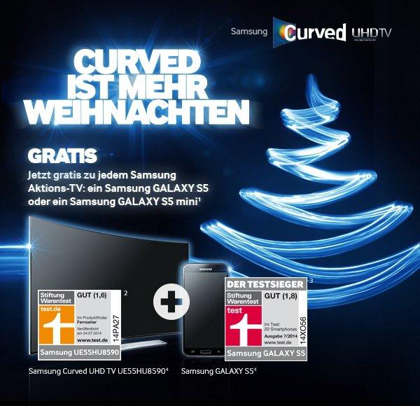 Samsung Premium-TV kaufen + Samsung GALAXY S5 oder GALAXY S5 mini erhalten (ab 28.11.)