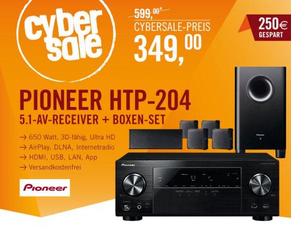 Pioneer HTP-204 5.1 Heimkino Set für 349€ @cyberport - 5.1 Heimkino Set