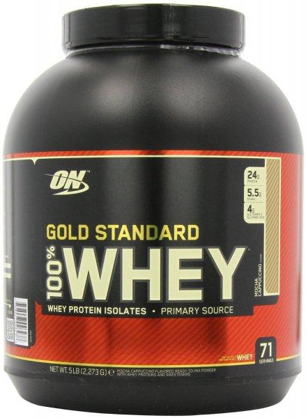 Optimum Nutrition 100 % Whey Gold Standard Protein Vanilla Ice Cream, 1er Pack (1 x 2273 g)