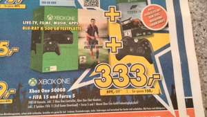 [Lokal Gütersloh] Xbox One Ohne Kinect +2 Controller+ FIFA 15 + Forza 5 ( oder Assassins Creed Unity) für 333€