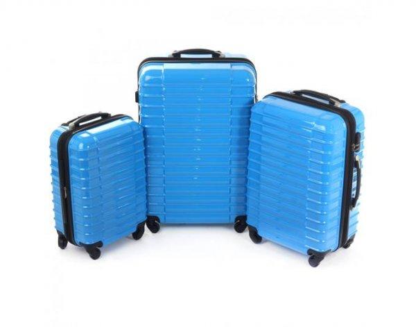Business Hartschale Reisekoffer 3er Set Blau nur für 82,99 € inkl Versandkosten