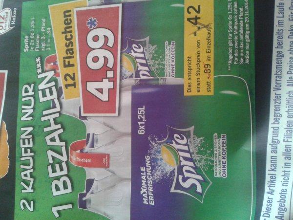 Lidl Super Samstag Sprite 2×6 Flaschen kaufen nur 1 bezahlen