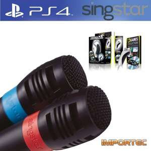Playstation 4 Mikrofone f. Singstar + PC Motion XS Game Bundle (Extra)