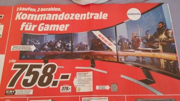 3x Samsung S27D590C 27 Zoll LED Curved 758€ @Mediamarkt Bundesweit / Online
