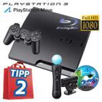 PS3 320GB + Move Starter Packet + Fernbedienung