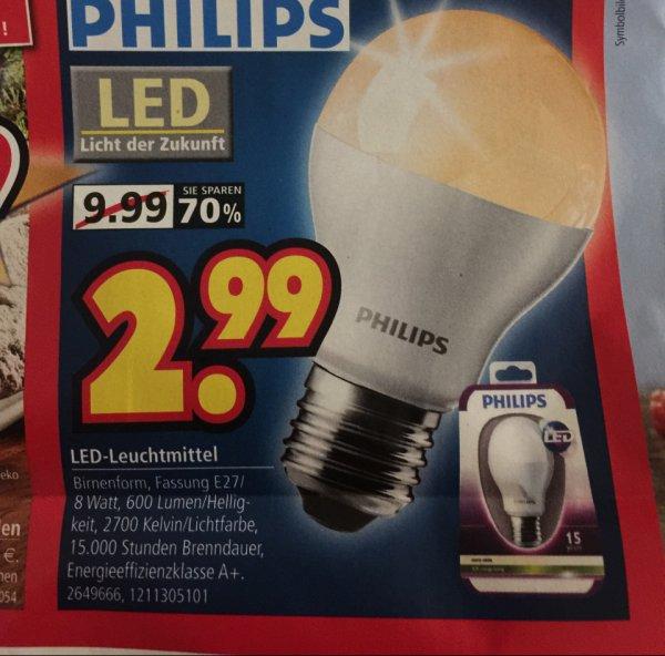 Philips LED E27 am 27.11. bei Segmüller für 2,99€