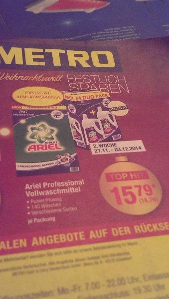 Ariel Professional Vollwaschmittel bei Metro für 18.79 € evtl. nur in Nürnberg