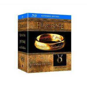 """[amazon.de] Der Herr der Ringe - Die Spielfilm Trilogie (Limited Extended Editions inkl. Der Eine Ring""""-Replik, exklusiv bei Amazon.de) [Blu-ray]"""