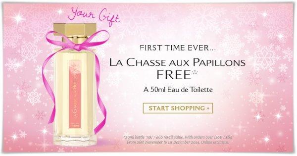 L'Artisan Parfumeur: Für >110 € bestellen und 50 ml La Chasse Aux Papillons (ca. 50-70 €)  gratis dazu (VSK-frei)