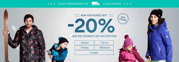 20% auf Skikleidung bei c&a - zum Beispiel Jacken ab 39, Hosen ab 31 Euro