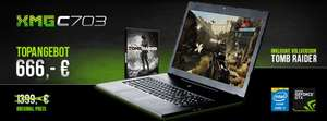 "Schenker Gaming Notebook XMG C703 - HDD+SSD - 17"" FHD - i5 oder i7 HQ - GTX 765M inkl. Tomb Raider Edition"
