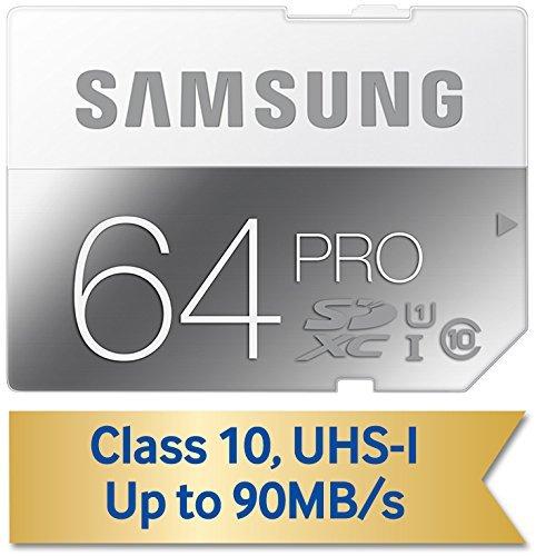 Samsung SDHC 64GB PRO Class 10 UHS-I (90 MB/s / 80 MB/s) für 35,31€ @Amazon.com