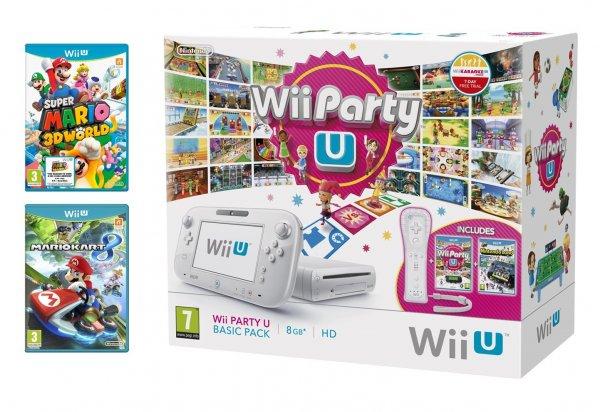 Wii U 8GB weiß UK Bundle mit 4 Spielen + Wii Remote
