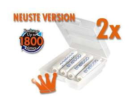 [meinpaket.de] 8x Sanyo eneloop Akku NiMH Micro AAA 800mAh + Box HR-4UTGB neuste Version für 12,15€ oder 8x AA ohne Box für 13,59€