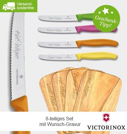 8-tlg. Victorinox Brotzeit-Set mit Wunsch-Gravur 29,95€ @limango