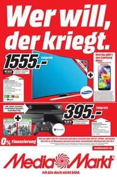 [MediaMarkt Friedrichshafen] Samsung UE55HU8290 4K Curved LED-Smart-TV + Samsung Galaxy S5* für 1555€ + weitere gute Angebote