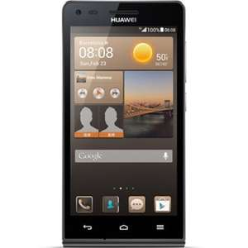 Huawei Ascend G6 Smartphone (11,4 cm (4,5 Zoll) Touchscreen, 1,2GHz, Quad-Core-Prozessor, 1GB RAM, 4GB Speicher, 8 Megapixel-Kamera mit Autofokus, Android 4.3) schwarz