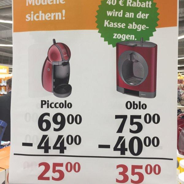 [Globus Marsdorf] Dolce Gusto Piccolo 25€ und Oblo 35€