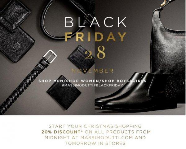 Massimo Dutti 20 % auf alles Filiale und online - Black Friday