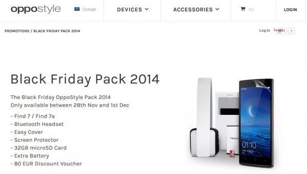 Oppo Find 7 / Find 7a inkl. umfangreichem Zubehör - Black Friday Pack
