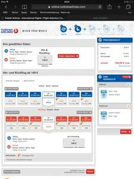 Alle Abflughäfen Deutschland- Istanbul mit Turkish Airlines Reisezeitraum 20.11-20.03.2015 Buchung bis zum 30.11.2014