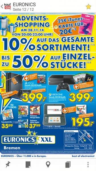 (Lokal) Euronics Bremen itunes Karten 25€ für nur 20€