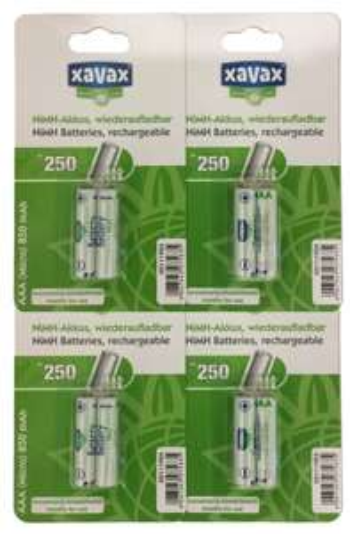 [eBay] XAVAX Akkus AAA (Micro) NiMH 850 mAh - 4x 2er Pack, 8 Stück für 5,49€
