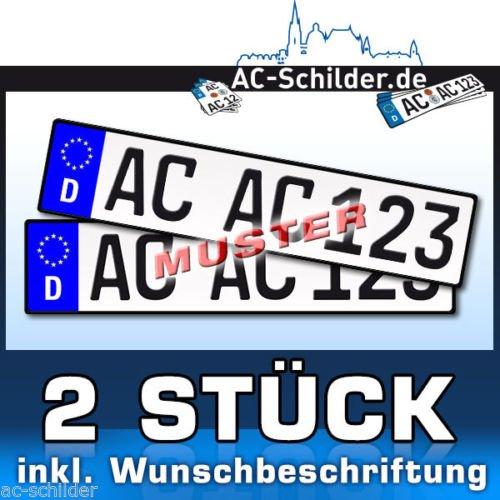 2 Kennzeichen für 9,99€ (auch Sondergrößen verfügbar)