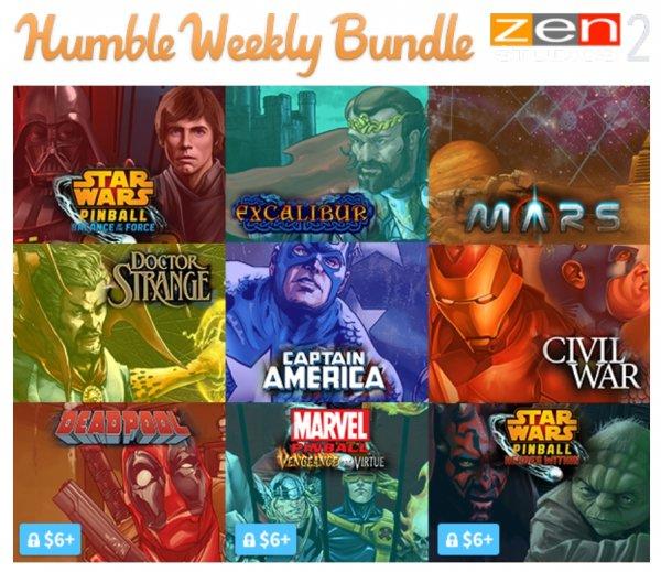 [STEAM] Pinball FX2Tables @ Humble Weekly Bundle: Zen Studios 2
