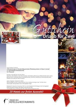 Hotel-Gutschein: 3 Tage(2 Nächte)  in einem ausgewählten Van der Valk Hotel inkl. Frühstück für nur 49,50€ pp