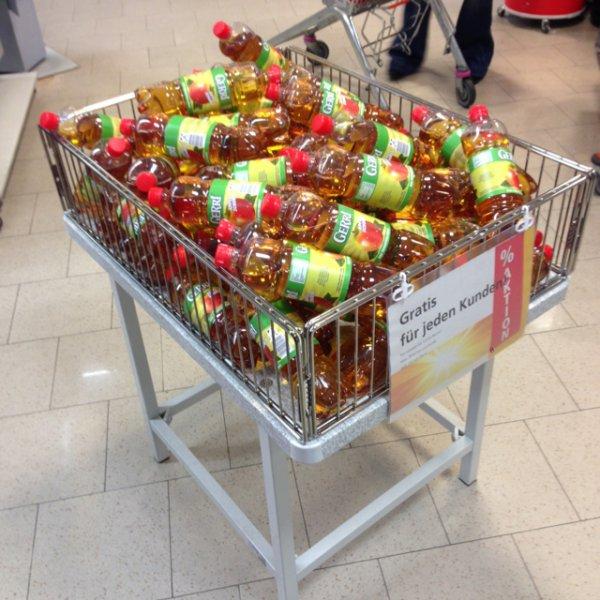 Gerri Apfel Schorle 0,00 € bzw. 25Cent Pfand Rewe GM Stierstadt