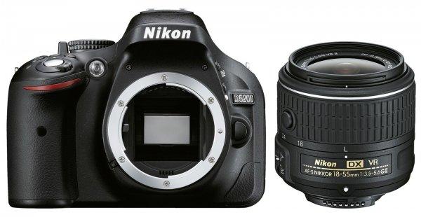 DSLR Kamera Nikon D5200 Kit schwarz + AF-S DX 18-55 VR II für 439€ @ebay
