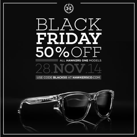 [Black Friday] 50% auf alle Hawkers Sonnenbrillen Gutschein BLACK50