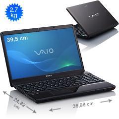 """Sony VAIO 15,5"""" EB4X (i3-380M 2x2,53GHz, 4GB, 500GB, Blu-ray, HD5650 1GB, eSATA, BT, HDMI, 1366x768, W7 HP) für 404,10EUR inkl. Versand"""