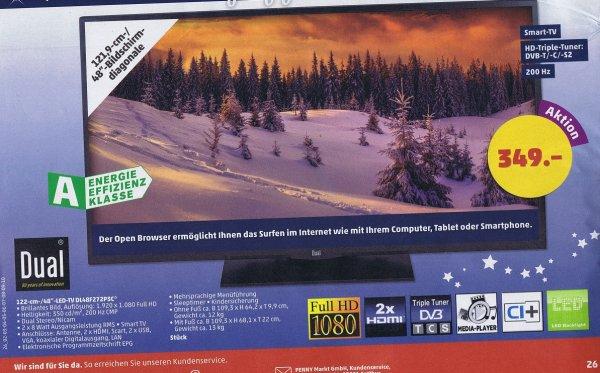 [Penny]  DUAL 48 Zoll LED-TV DL48F272P3C Smart Triple-Tuner DVB C/T/S2  349€